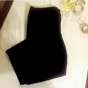 LOFT Original Crop Black Pants